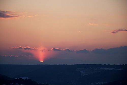 blue sunset red colors clouds landscape sonnenuntergang catchy ulm energon eselsberg blautal