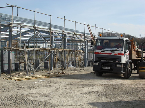 Building work at the Epic Fireworks new site