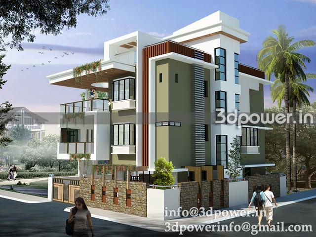 3d image contempary bungalow_bungalow 1_3d modeling_3d rendering_www ...