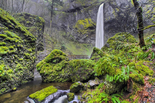 Elowah Falls in Columbia River Gorge - Oregon - HDR