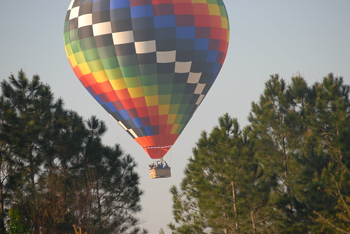 People Waving from a Hot Air Balloon (Thousand Trails Orlando)