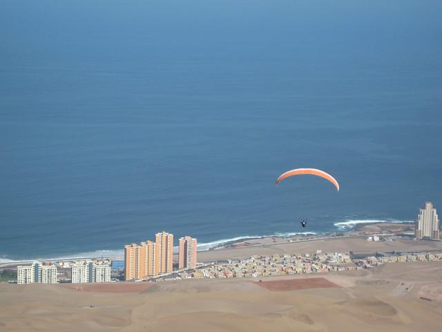 Paragliding over Iquique