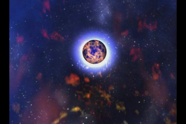 Neutron Star Merge from Vertical Perspective