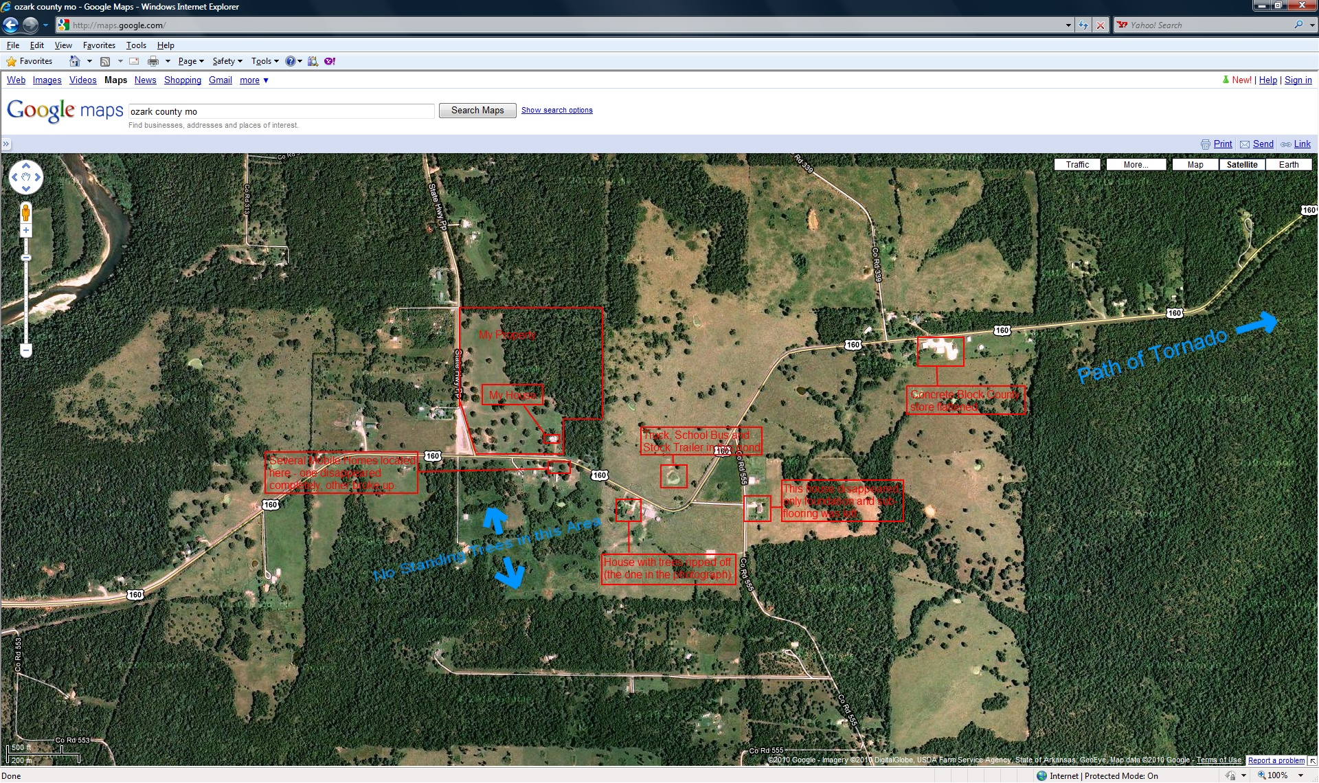 Elevation Of Ozark County MO USA MAPLOGS - What's the elevation at my location