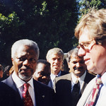 1998: William Pace & Kofi Annan at the Rome Conference