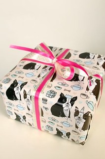 New black & seal Boston Terrier gift wrap!!