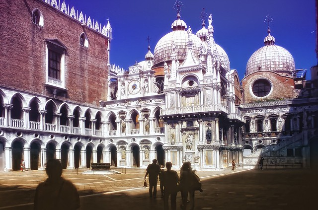 Marble courtyard of Palazzo Ducale