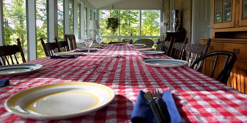 dinner at the farm