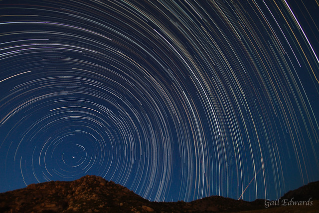 166/365 (Earthquake star trail)