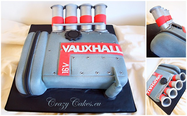 Car Engine Cake