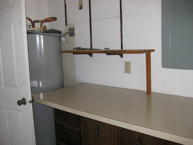 laundry room folding table/water heater | Flickr - Photo Sharing!