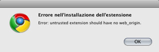 "Chrome e le ""untested extensions"""