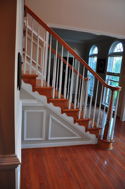 Crown Molding Up Staircase
