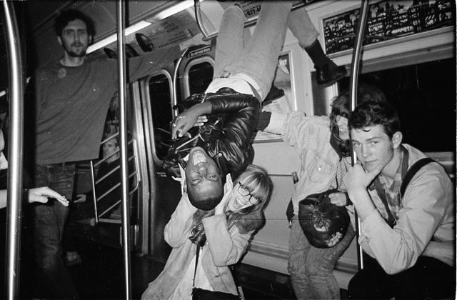 kids on a subway