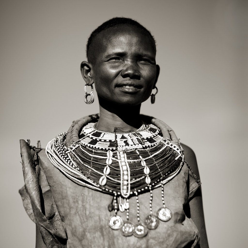 Samburu woman with pendants and necklaces -Kenya