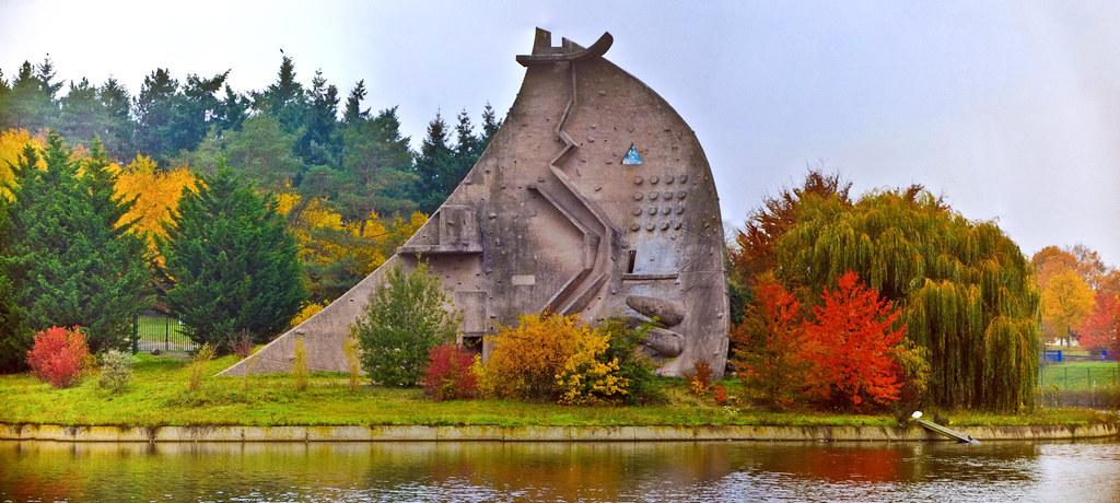 Evry Daily Photo - Panoramique - La dame du Lac - Parc du Lac Courcouronnes en automne