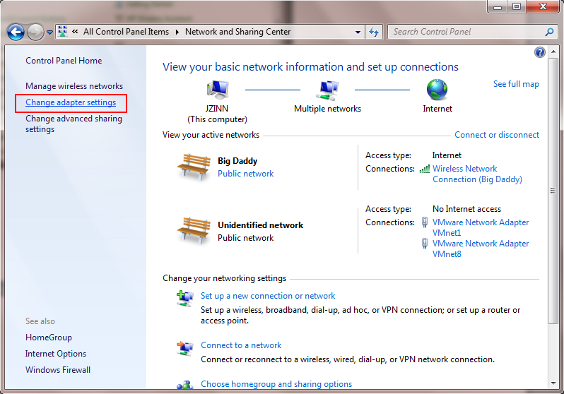 how to change ethernet network name