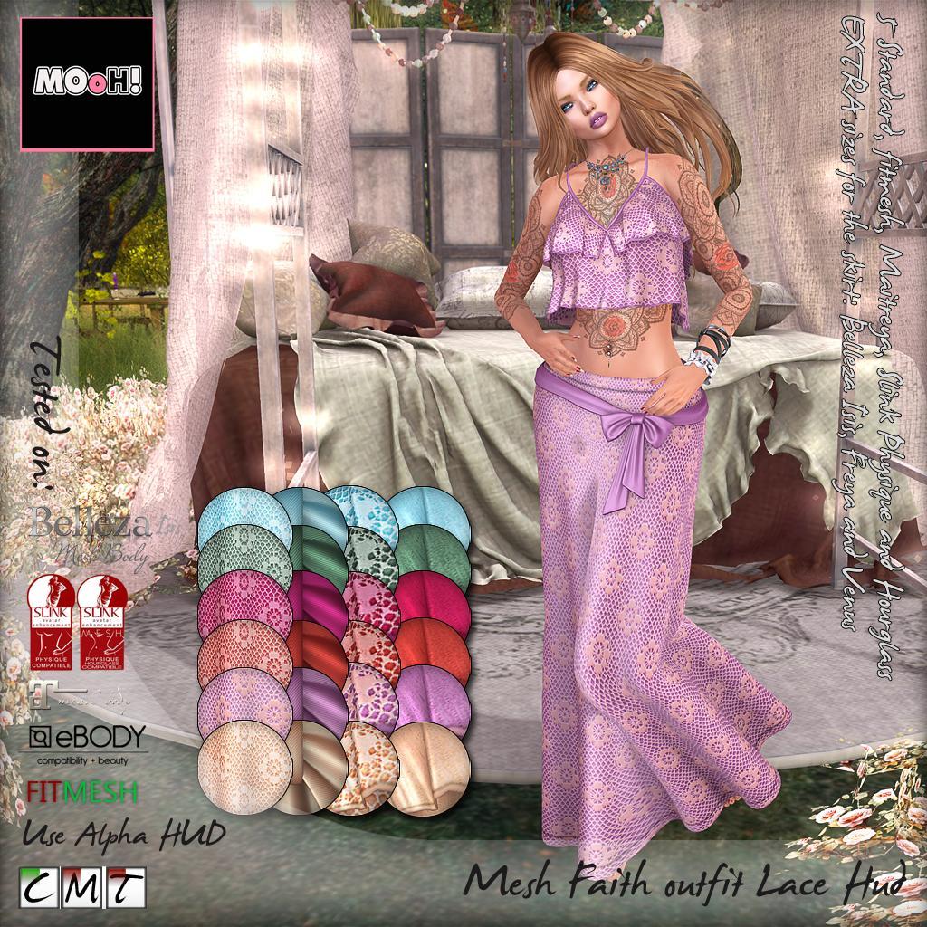 Faith outfit lace hud - SecondLifeHub.com