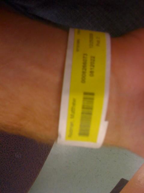 Hospital bracelet! | Flickr - Photo Sharing!