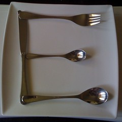 fork, spoon, tableware, cutlery,