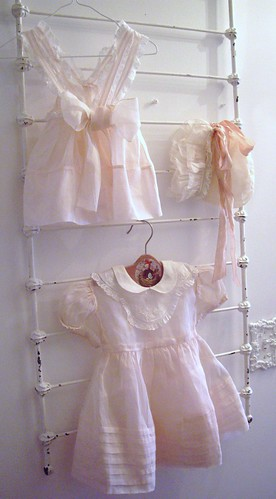 vintage baby dresses and bonnet