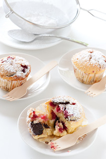 raspberry & dark chocolate muffins