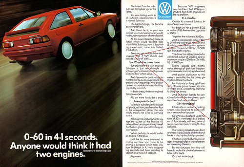 VW Scirocco Bimotor advert