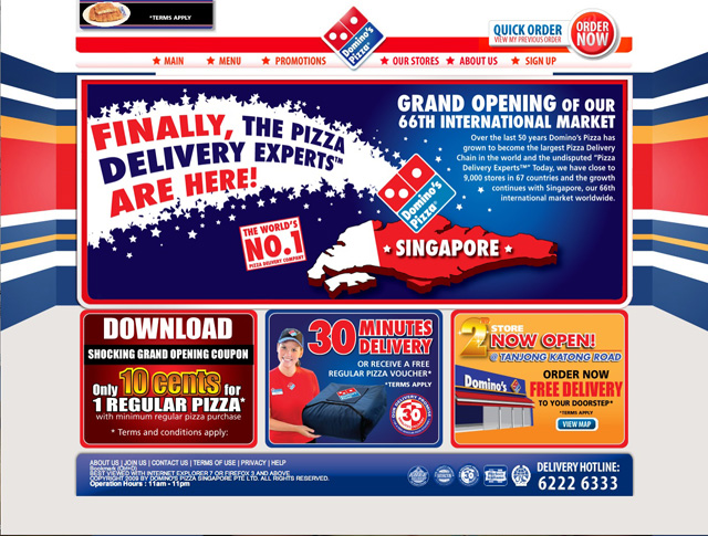Dominos Singapore website | Flickr - Photo Sharing!