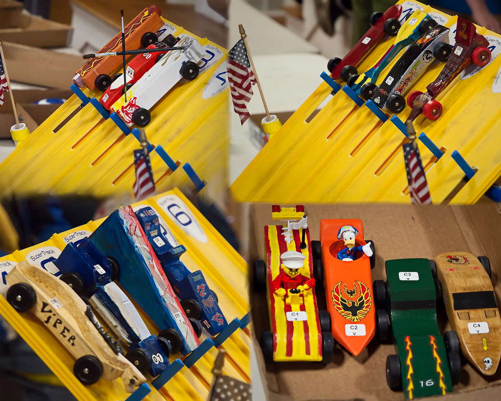 Hot Dog Pinewood Derby Cars
