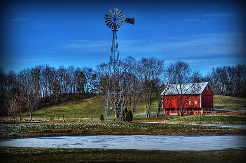 ohio windmill barn rural geotagged nikon raw nef farm country rustic hdr photomatixpro nikkor70300vr canalfultonohio d3s starkcountyohio nikongp1 pse8 butterbridgeroad