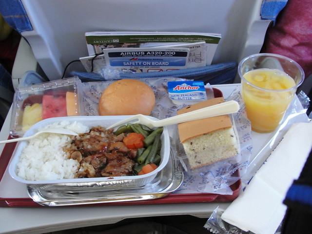 飞机上的餐点