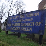 St Mary the Virgin - The Parish Church of Acocks Green - sign