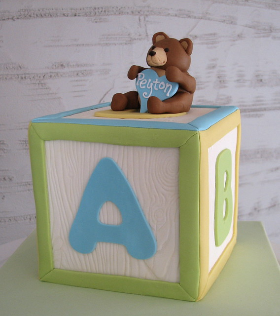 Baby Block Cake Images : Woodgrain Baby Block Cake - a photo on Flickriver