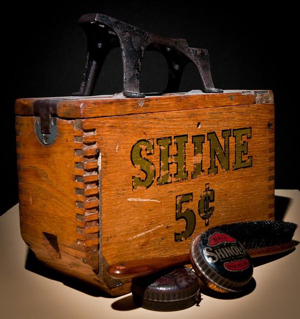 Old Fashioned Shoe Shine Kit