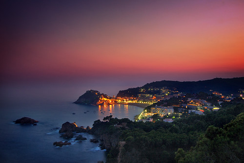 Sunset at Tossa de Mar