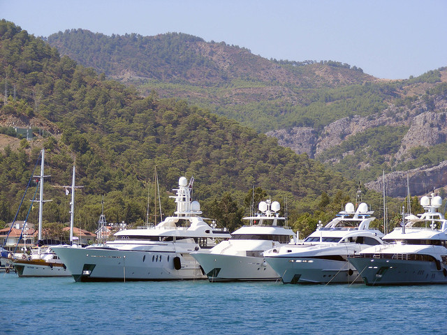 Four Luxury Yachts