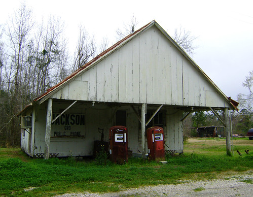 Old Service Station, Double Bayou, Texas 0310101458