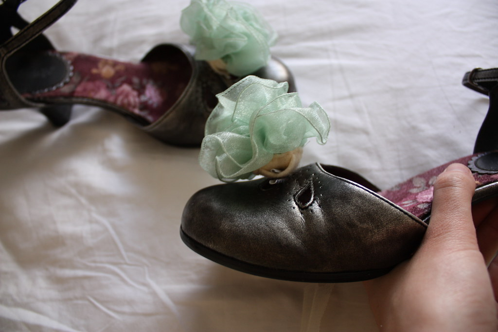 Ribbon Flower as Shoe Clip
