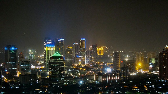 Jakarta night skyline