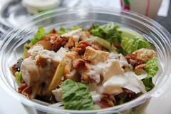 salad, vegetable, meat, food, dish, cuisine, caesar salad,
