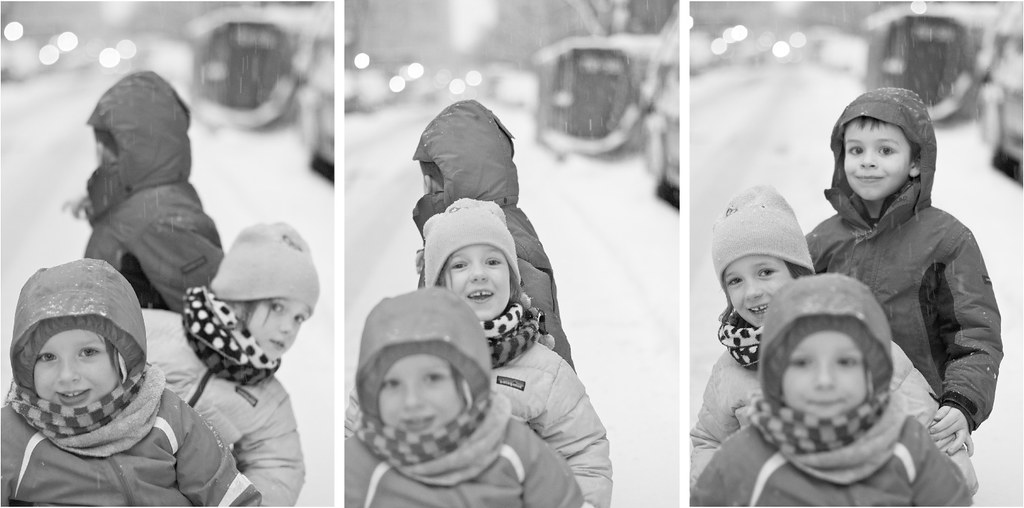 Triptych from a Snowy Day
