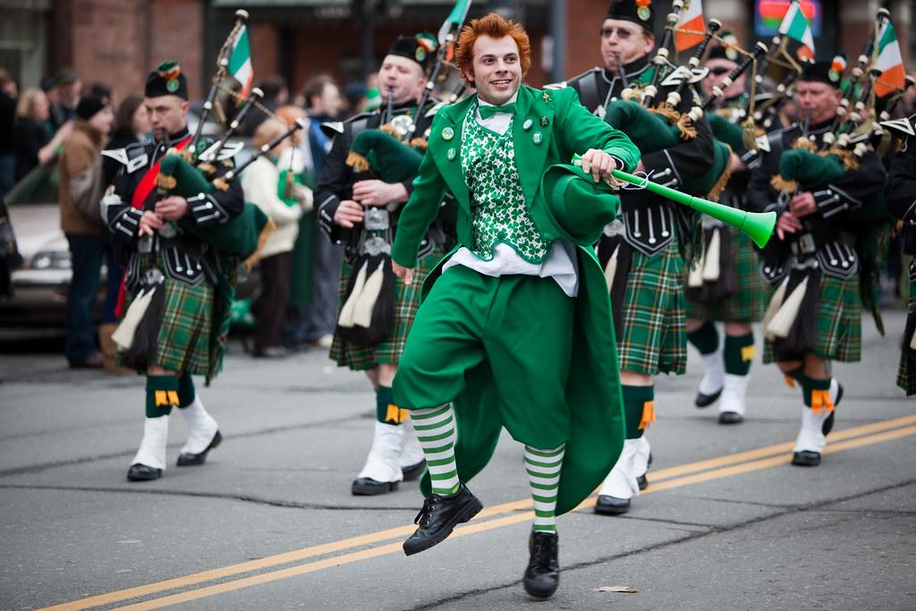 Dancing at St Patrick's Day Parade