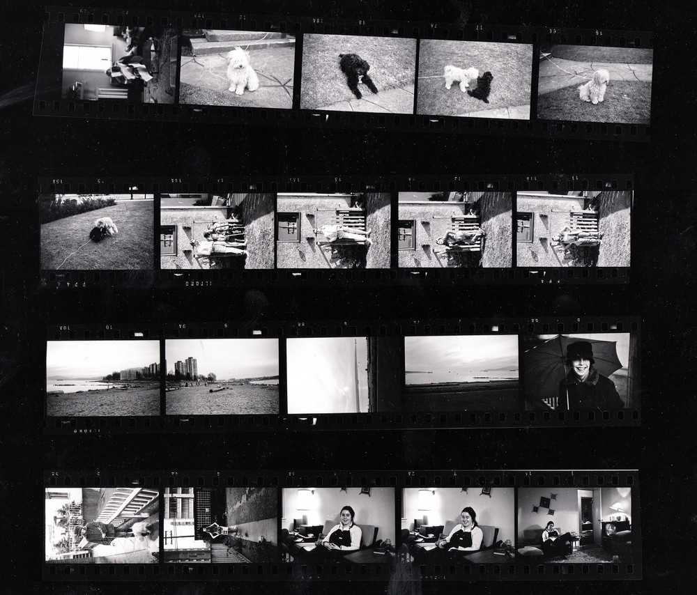1971c1 Black and White Contact Sheet from 1971