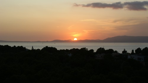 sunrise island bay sonnenuntergang sommer urlaub insel mallorca sonne mediterraneansea abendsonne bucht mittelmeer