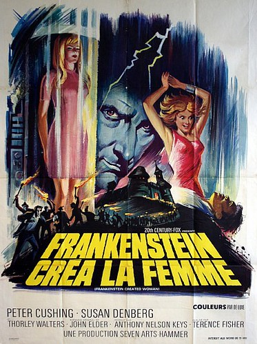 "Frankenstein Created Woman - ""Frankenstein Crea La Femme""  Original 1967 French Grande Movie Poster"