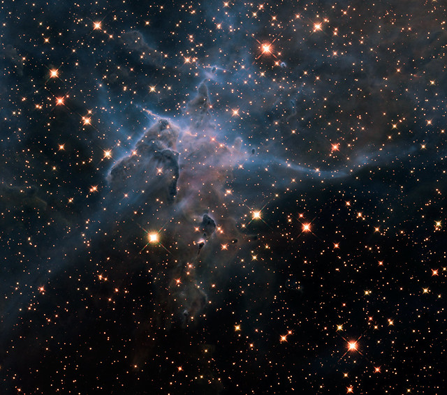 Hubble's Wide View of 'Mystic Mountain' in Infrared