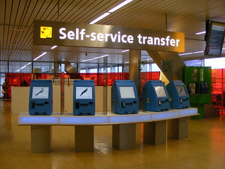 airport self-service kiosks