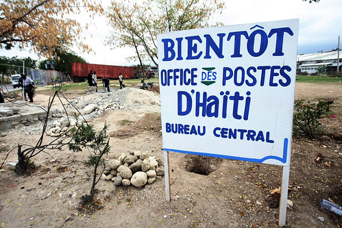 New site for temporary post office, Port-au-Prince, Haiti (Photo: UPU/Sophia Paris)