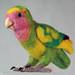 Life sized Needle Felted Lovebird by Nina Bolen