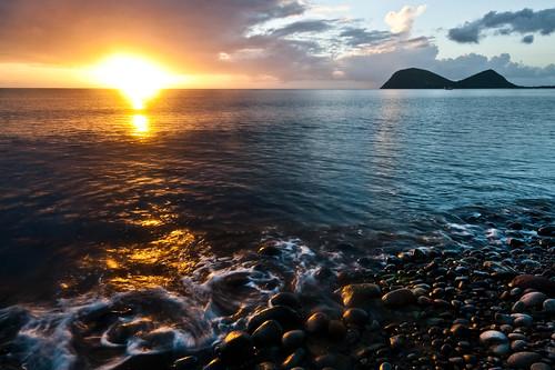 longexposure sunset beach portsmouth caribbean dominica caribbeansea westindies cabrits caribbeanisland rossuniversity rossuniversityschoolofmedicine